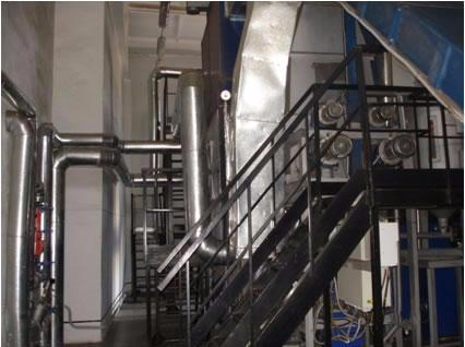 First domestic automated boiler plant with a hot-water boiler equipped with a milled peat fluidized furnace