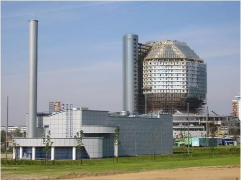 Individual gas boiler-house with a heat power of 9 mw of the national library of Belarus