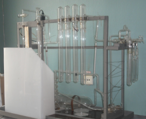 Experimental setup for investigation of adsorption
